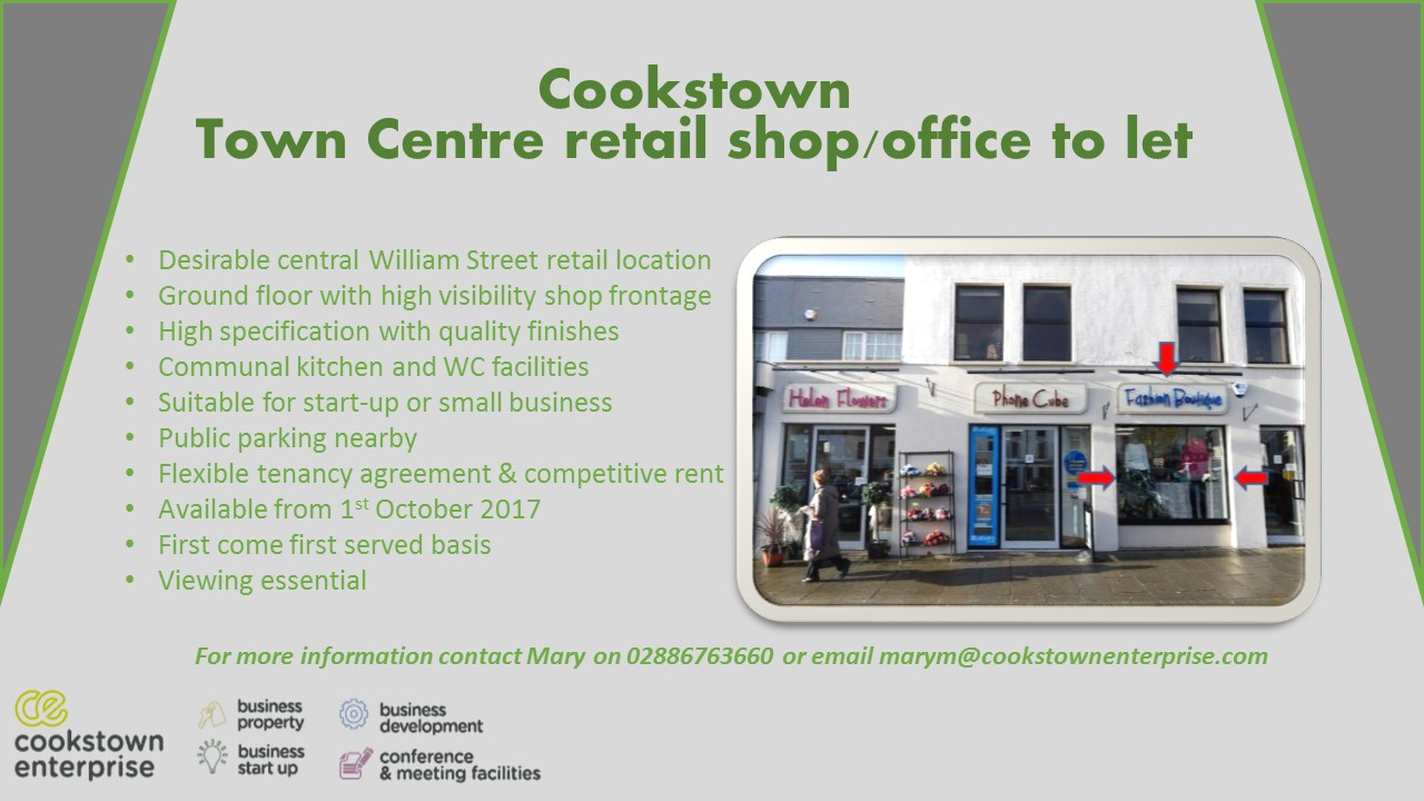 Link to Town Centre retail shop/office to let post
